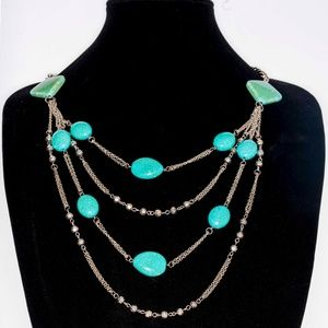 turquoise & Silver costume jewelry